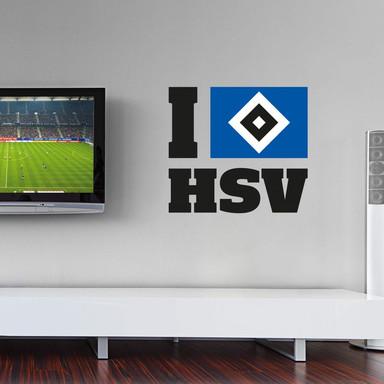 Wandsticker I love HSV