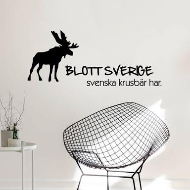 Wandtattoo Blott Sverige svenska krusbär har