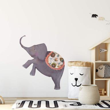 Wandtattoo Leffler - Artistischer Elefant