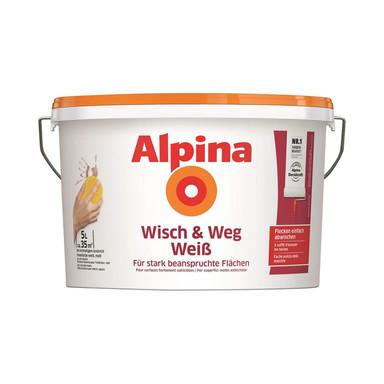 Alpina Wandfarbe Wisch und Weg weiss - 5 Liter - Bild 1