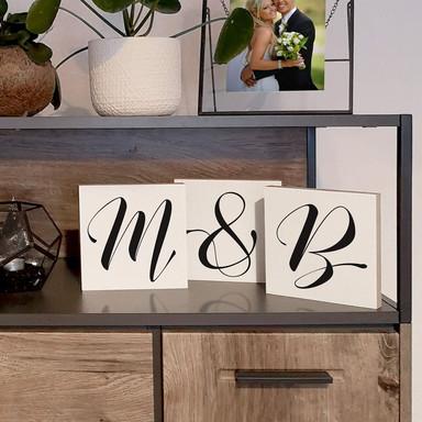Dekobuchstaben zum Hinstellen - Schreibschrift - 15x15cm - Bild 1