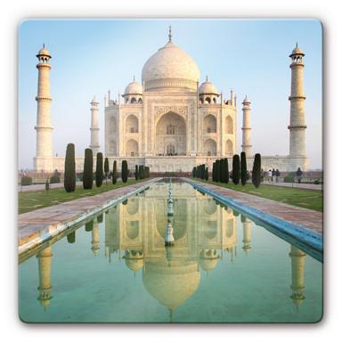 Glasbild Taj Mahal - quadratisch
