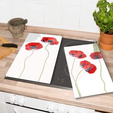Herdabdeckplatte Disher - Mohnblumen