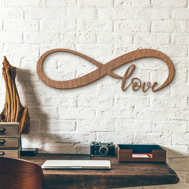 Holzkunst - Unendlich Love - Mahagoni