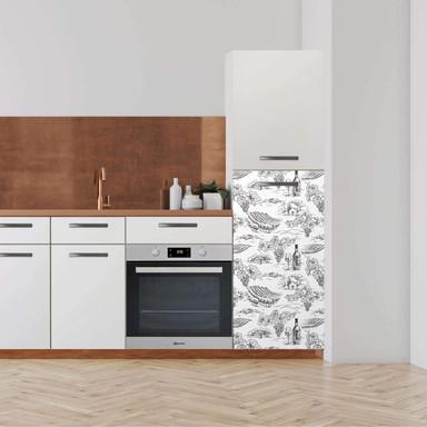 Klebefolie - Hochschrank (60x120cm) - Vineyard- Bild 1