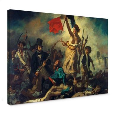 Leinwandbild Delacroix - Die Freiheit führt das Volk