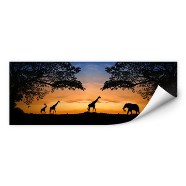 Wallprint African Sunset