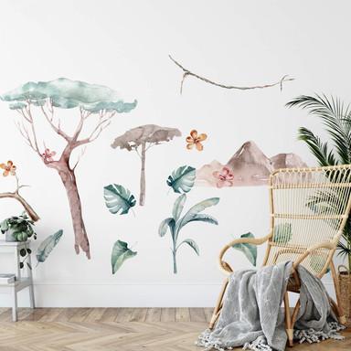Wandtattoo Kvilis - Dschungel Welt Set (18-teilig)
