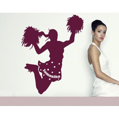 So kann es wirken: Das Motiv  - Wandtattoo Wunschtext Cheerleader