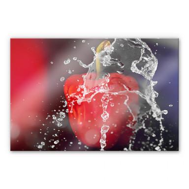 Acrylglasbild Frische Paprika