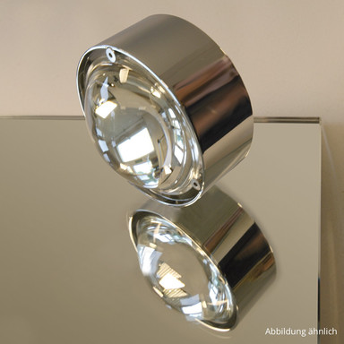 Dekorative Spiegelaufbauleuchte Puk Mirror LED in chrom, dimmbar