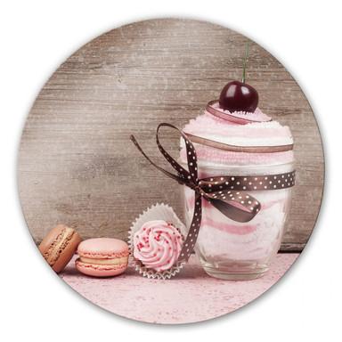 Glasbild Sweet Dessert - rund