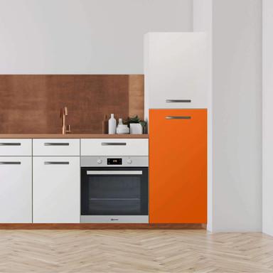 Klebefolie - Hochschrank (60x120cm) - Orange Dark- Bild 1