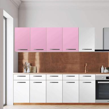 Klebefolie - Wandschrank 160cm Breite - Pink Light