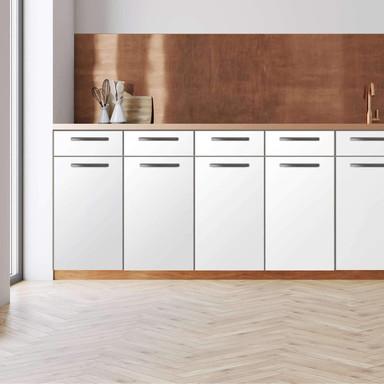 Küchenfolie - Unterschrank 120cm Breite - Weiss