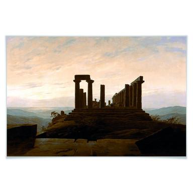 Poster Friedrich - Der Junotempel in Agrigent