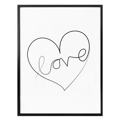 Poster Hariri - Love Lines - weiss