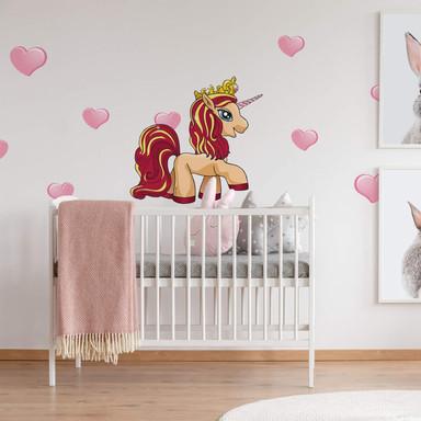 Wandsticker Filly Unicorn Romance Cordelia