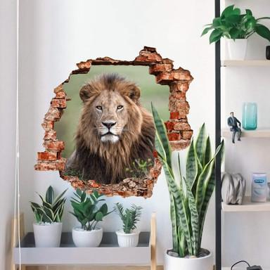 3D Wandtattoo van Duijn - Im Blick des Löwen