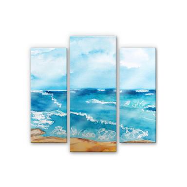 Acrylglasbild Toetzke - Meeresrausch (3-teilig)