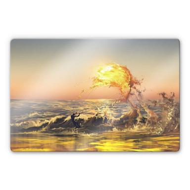 Glasbild aerroscape - Feuer Surfer