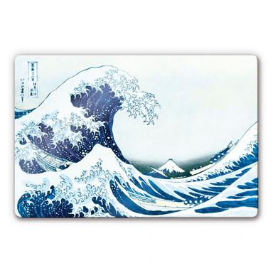 Glasbild Hokusai - Die grosse Welle von Kanagawa