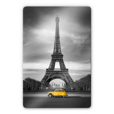 Glasbild La Vie est Belle - gelb