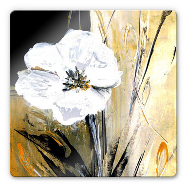 Glasbild Niksic - Modern Flower