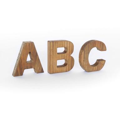 Holz Dekobuchstaben zum Hinstellen
