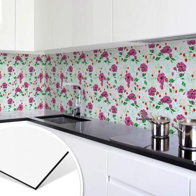 Küchenrückwand Blanz - Blütenromantik