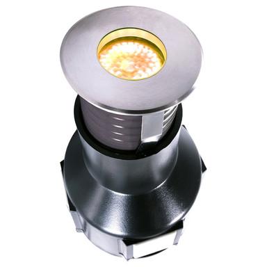 LED Bodeneinbauleuchte in Edelstahl