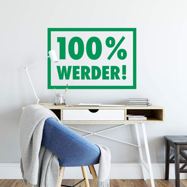Wandsticker Werder Bremen 100 Prozent