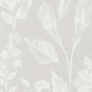 A.S. Création Vliestapete Linen Style Tapete mit Blätter Muster beige, grau, weiss