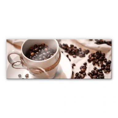 Acrylglasbild Kaffee Zauber - Panorama