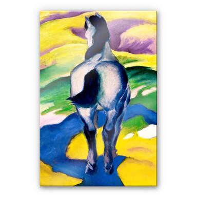 Acrylglasbild Marc - Blaues Pferd II