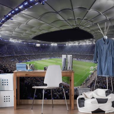 Fototapete Hamburger SV im Stadion bei Nacht - 336x260cm - Bild 1