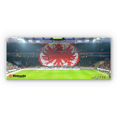 Hartschaumbild Eintracht Frankfurt Arena Fanlogo - Panorama
