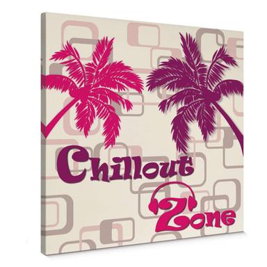 Leinwandbild Chillout Zone Pink