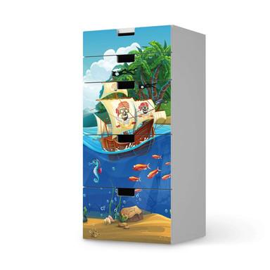Möbel Klebefolie IKEA Stuva / Malad Kommode - 5 Schubladen - Pirates