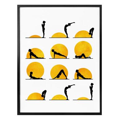Poster Kubistika - Yoga Der Sonnengruss