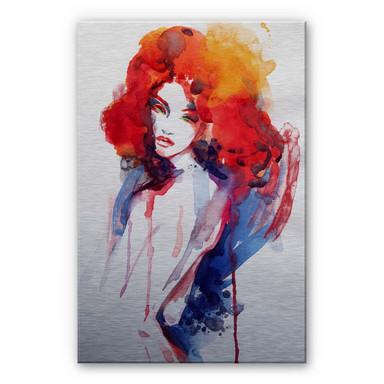 Alu Dibond Bild Die Frau mit dem feuerroten Haar
