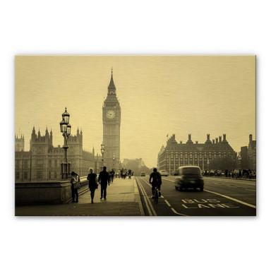 Alu-Dibond-Goldeffekt Big Ben in London
