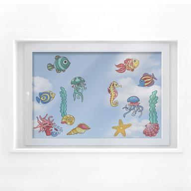 Fensterbild Bunte Fischis