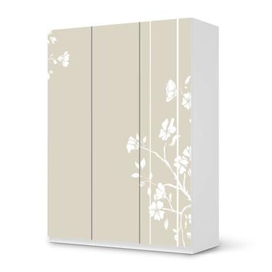 Folie IKEA Pax Schrank 201cm Höhe - 3 Türen - Florals Plain 3- Bild 1