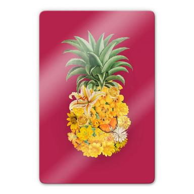 Glasbild Feldmann - Pineapple Pink Floral