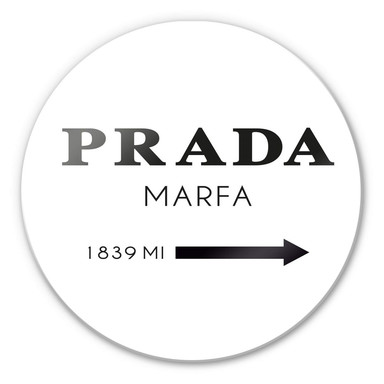 Glasbild Prada Marfa - rund