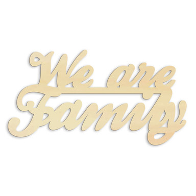 Holz-Anhänger We are Family