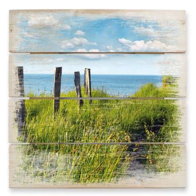 Holzbild Weg zum Meer