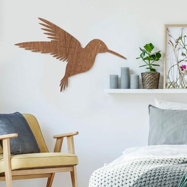 Holzkunst Mahagoni - Kolibri