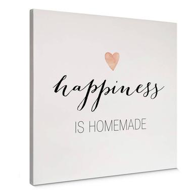 Leinwandbild Confetti & Cream - Happiness is homemade - Quadratisch